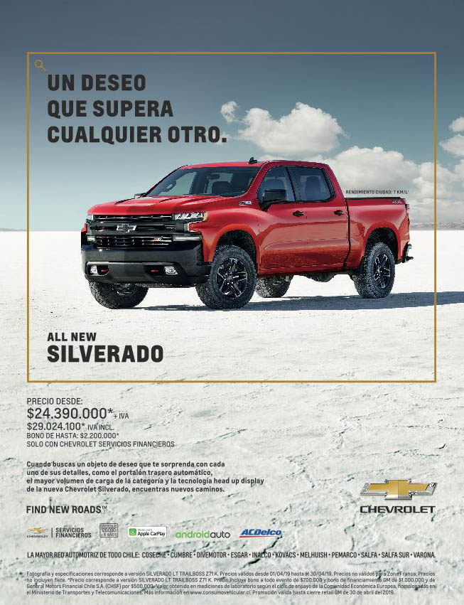Av Chevrolet Silverado abril 2019