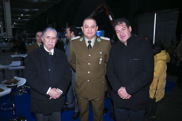 Fitran soc-Guillermo Pradenas, coronel José Luis Ojeda y Francisco Ananías.