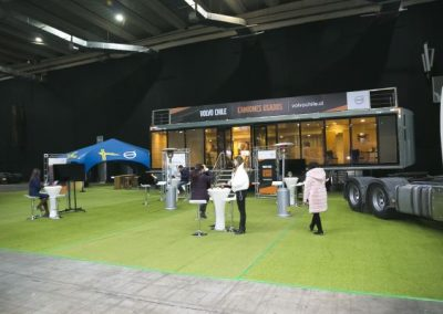 Fitran stands Volvo Chile